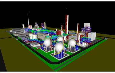 """PMP hoàn thành họp mô hình 3D mốc 60% của giai đoạn thiết kế tổng thể (FEED) Dự án """"Nhà máy sản xuất hạt nhựa Polypropylene Phú Mỹ"""" với nhà thầu FEED (Tecnimont)."""